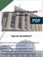 Tugas Presentasi 2 Tentang Konsitusi Negara