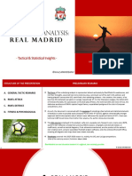 Real Madrid - Elements of Statistical-Tactical Opposition Analysis (Champions League Final 2018)