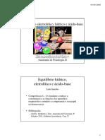 Anatomia e Fisiologia- Equílibrio ácido-base e electrólitos