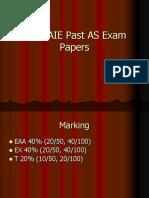 CIE AS past exam Qs