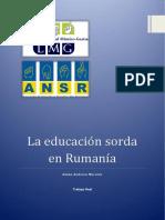 La Educación Sorda en Rumanía.dianaMurariu
