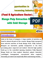 Project Opportunities in Mango Pulp Processing Industry (Food & Agriculture Sector)