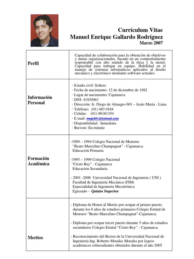 Bonito Escuela Secundaria Primer Currículum Laboral Regalo - Ejemplo ...