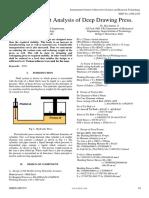 Finite Element Analysis of Deep Drawing Press
