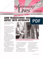 Spring 1999 Transforming Lives Newsletter, Gospel Rescue Ministries