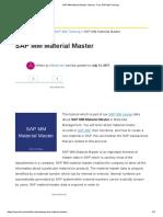 1.1.1.SAP MM Material Master Tutorial - Free SAP MM Training