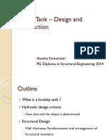 Forebay Tank