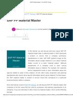 1.1.SAP PP Material Master - Free SAP PP Training