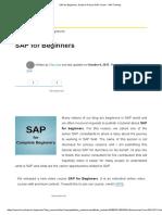 1_SAP for Beginners_ Guide to Pursue SAP Career - SAP Training