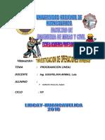 Ejercicio de Investigacion de Operaciones Mineras