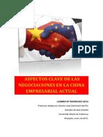 Aspectos Clave de Las Negociaciones en La China Empresarial Actual