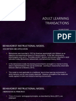 AET/500 Adult Learning Transactions Assignment