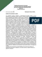 República Bolivariana de Venezuela, Preambulo de Cuba