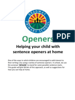 4. Improving Sentence Openers - IsPACED Parent Guide
