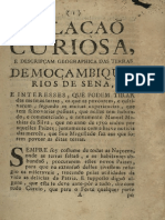 Relacao Curiosa Mocambique Rios de Sena