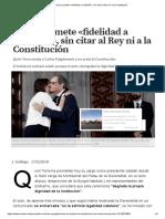 Torra Promete «Fidelidad a Cataluña», Sin Citar Al Rey Ni a La Constitución
