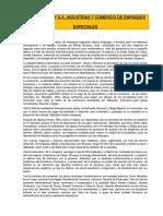 Caso Helny SA Industrias y Comercio de Empaques Especiales