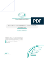 IPSF PARO 16th Regional Assembly Call for PARS 2020 (Español)