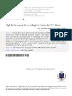 5.1 High Performance Fuzzy Adaptive Control