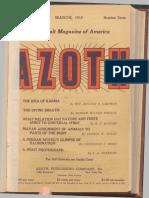 Azoth, March 1919