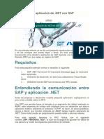 Conectando La Aplicación de .NET Con SAP