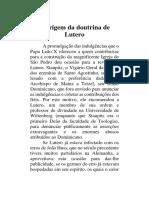 A Origem Da Doutrina de Lutero