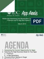 App Annie IDC Mobile App Advertising Monetization Trends 2013 2018