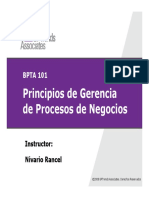 Principios de Gerencia de Procesos de Negocios