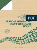 Manual de Implantação de Serviços de Práticas Integrativas e Complementares no SUS