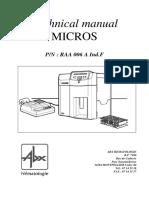 ABX1Micros 60维修手册RAA006