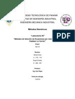 Laboratorio #2 Métodos Numéricos - Rene Montante y Faddeev Le Verrier