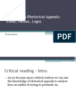 Rhetorical Appeals PPT - NEW
