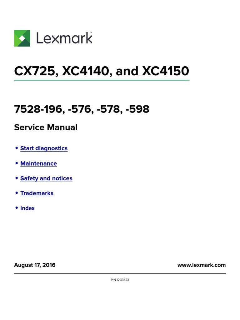 xc4140 xc4150 service and parts manual image scanner fax rh scribd com Housekeeping Training Manual Customer Training Manual