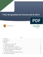 I Plan de Igualdad de Orkoien (2018-2021)