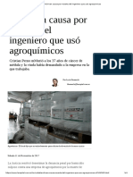 Archivan Causa Por Muerte Del Ingeniero Que Usó Agroquímicos