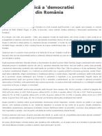 Dogan-Analiza Statistica a Democratiei Parlamentare Din Romania
