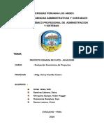 INFORME Evaluacion de Proyectos