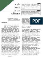 Cementos de Alta Resistencia Modificados Con Polimeros