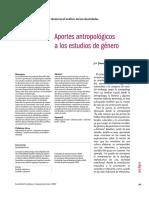 Parga - Aportes AntropolóGicos a Los Estudios de géNero