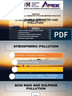 Atmospheric Chemistry and Pollutions