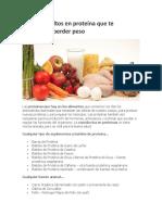 Alimentos Altos en Proteína Que Te Ayudarán a Perder Peso