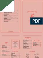 Fulton Hall opening menu