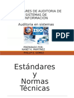 Estandares de Auditoria de Sitemas