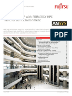 Ansys Fluent With Primergy Hpc