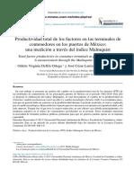 ArticuloProductividad Total de Los Factores en Las Terminales de Conectores en Los Puertos de Mexico
