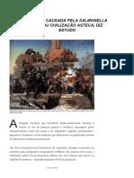 Doença Causada Pela Salmonella Dizimou Civilização Asteca