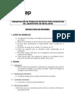 Estructura del Informe técnico N°1