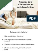 Presencia de La Enfermería en Los Cuidados Paliativos