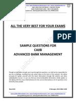 CAIIB ABM Sample Questions by Murugan for June 2018