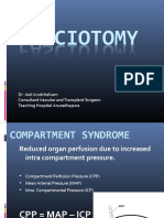 fasciotomy and compartment syndrome